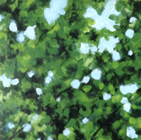 Acrylic painting 40x40cm box canvas